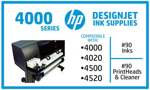 HP Designjet 4000, 4020, 4500, 4520 Ink Supplies
