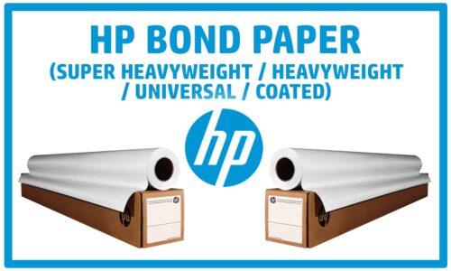HP Bonds, Universal, Coated, Heavyweight, and Super Heavyweight