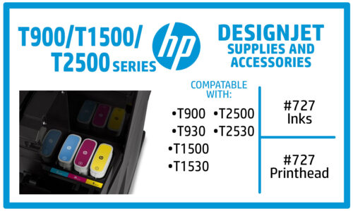 HP Designjet T9x0 T15x0 T25x0 Ink Supplies