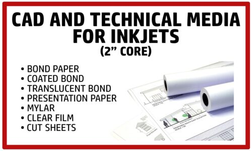 Inkjet Bond, Coated Bond, Film, Cut Sheets