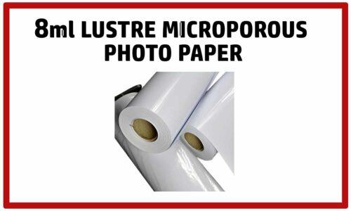 8mil Lustre Microporous Photo Paper